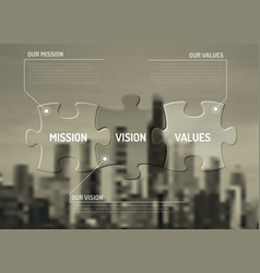 Mission vision and values diagram schema vector