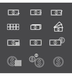 Money icon vector image vector image