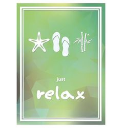 relax poster vector image vector image