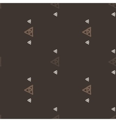 Seamless pattern of colored triangles drawn vector