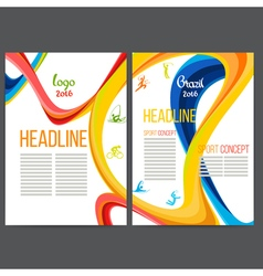 Sport concept banners with symbols of sports vector image vector image