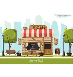 street cafe flat design concept vector image