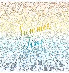 Summertime Handwritten phrase on an abstract vector image vector image