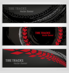 tire banners set vector image