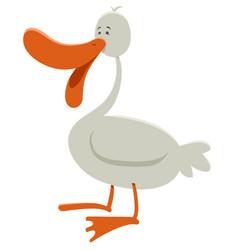 goose farm animal character vector image