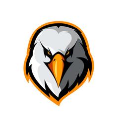 Furious eagle head athletic club logo vector