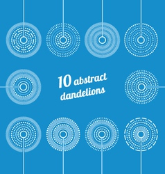 Set of abstract dandelions vector