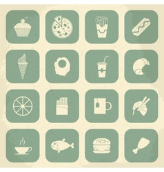 Retro food icons vector