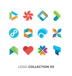 logo collection 03 vector image