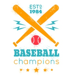 baseball grunge paint vector image