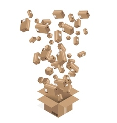 Modern cardboard boxes set delivery vector