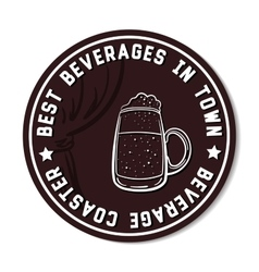 Round beverage coaster white vector