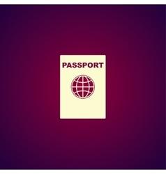 Passport icon concept for vector