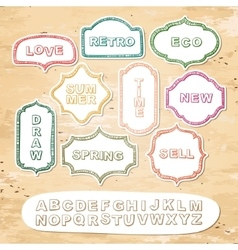 Alphabet and frames vector image