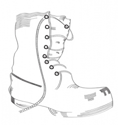 boot sketch vector image vector image