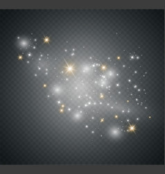 Dust on a transparent backgroundbright stars vector