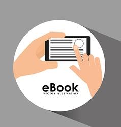 e-book concept design vector image