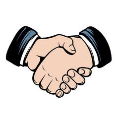 Handshake icon cartoon vector