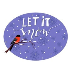 Let it snow vector