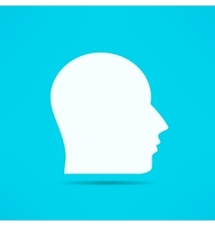 Male face profile design Head silhouette Human vector image