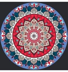 Mandala decoration isolated design element Zentang vector image vector image