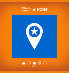 Map pointer with star vector