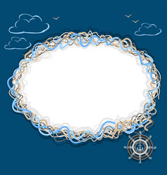 marine frame vector image vector image