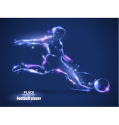 Motion design Football player kick a ball Blur vector image