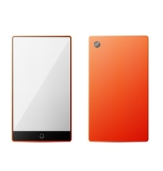 Orange perfectly detailed modern smart phone vector image