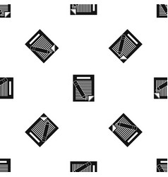 paper and pencil pattern seamless black vector image vector image