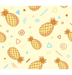 Pastel color pattern with pineapples on y vector