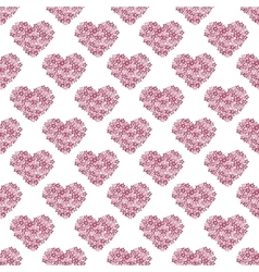 Pink floral heart Vintage background vector image