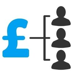 Pound recipients flat icon symbol vector