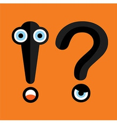 Question mark and exclamation point vector