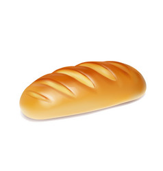 Realistic bread isolated bakery icon vector