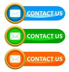 Set of contact us buttons vector image