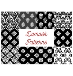 Set of damask seamless patterns vector