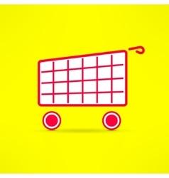 shopping cart bright symbol Marketing vector image vector image