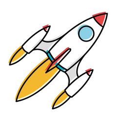 space rocket isolated icon vector image vector image