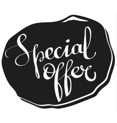 Special offer lettering tag vector
