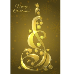 Stylized glass Christmas tree vector image