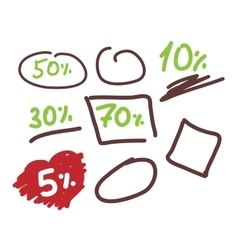 Template doodle sale for layout business vector