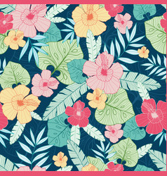 Tropical summer hawaiian seamless pattern vector