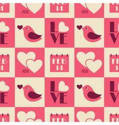 Vintage Valentine Seamless Pattern vector image vector image