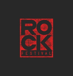 Word rock poster musical grunge mockup t-shirt vector