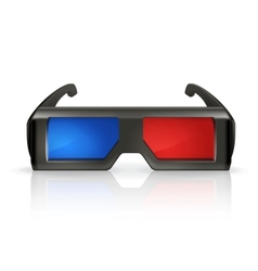 Plastic anaglyph glasses vector