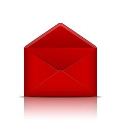 Red open envelope vector image