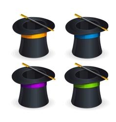 Magic hats set vector image