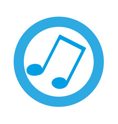 blue symbol music sign icon vector image
