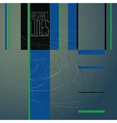 Abstract lines communication and digital vector